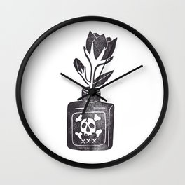 Poison Flower Wall Clock