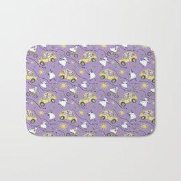 Purple Sheep in Cars Bath Mat