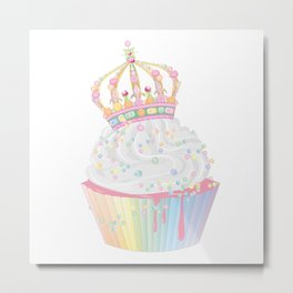 sugary cupcake with candy crown Metal Print