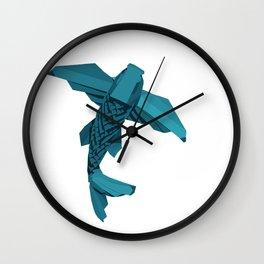 Origami Koi Wall Clock