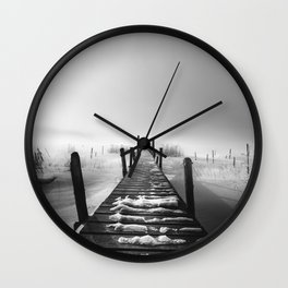 I rest here - BW Wall Clock