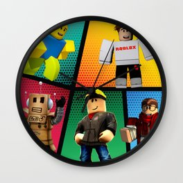 Roblox heroes Wall Clock