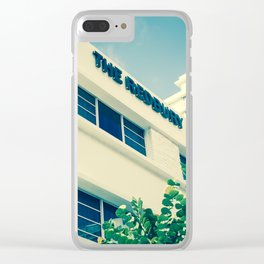 Art Deco Miami Beach #29 Clear iPhone Case