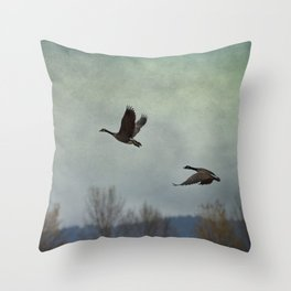 Taking Flight Throw Pillow