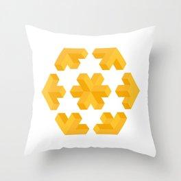 Isometric flower Throw Pillow