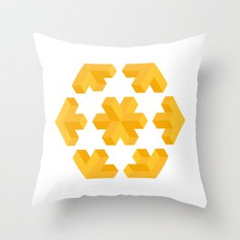 Isometric flower Throw Pillow
