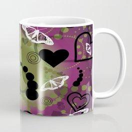 Butterfly- Purple Green Coffee Mug