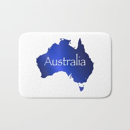 Australia Map Bath Mat