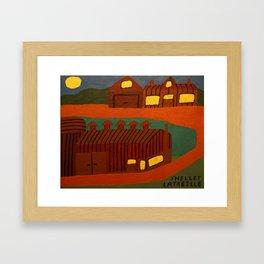 Abstract Amish Farm Framed Art Print