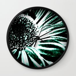 Daisy in Bloom; Black & White Wall Clock