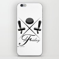 friday iPhone & iPod Skins featuring Friday by visionalfreeman