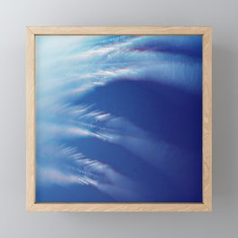 Feathery White Clouds Streaking Across A Turquoise Sky Framed Mini Art Print