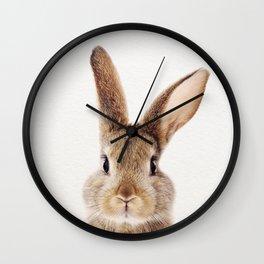 Baby Rabbit, Baby Animals Art Print By Synplus Wall Clock