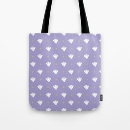 Diamonds - purple pattern Tote Bag