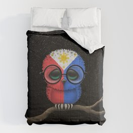 Baby Owl with Glasses and Filipino Flag Comforters