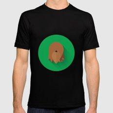 Chewbacca 2015 Flat Design Episode VII Mens Fitted Tee Black MEDIUM