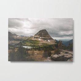 Cloudy Day at Bearhat Mountain Metal Print