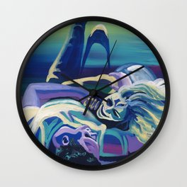 Floor Flourish Wall Clock