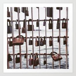 Wellington love locks Art Print