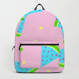 Watermelon in Pastel Neon | Watermelon Seed | Watermelon Home Decor | pulps of wood Backpack