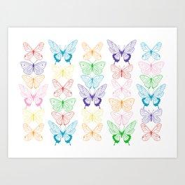 Butterfly Rainbow Art Print