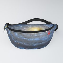 You are here: Milky Way map, Earth Fanny Pack