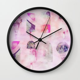 Ice Cream popsicles pastel tone watercolor art Wall Clock