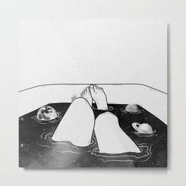 Magical bath tube. Metal Print