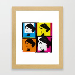 VIRGINIA WOOLF (FUNKY COLOURED COLLAGE) Framed Art Print