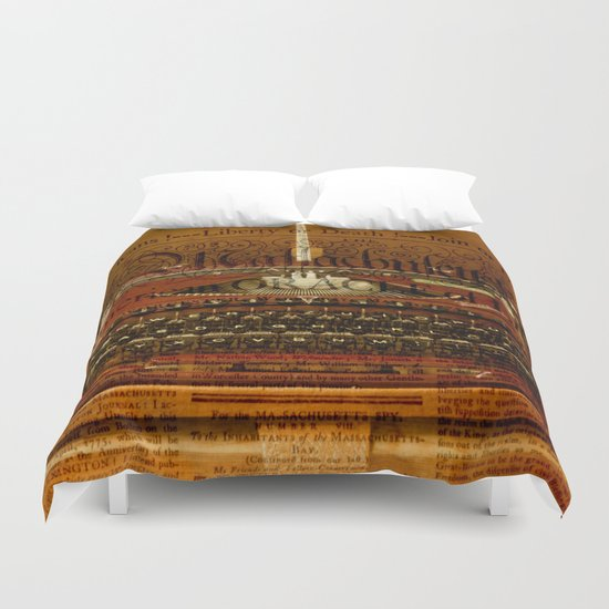 writing machine Duvet Cover