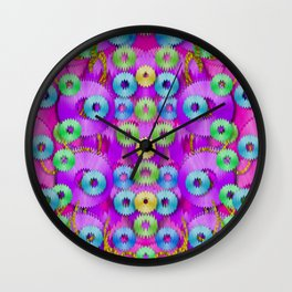 Festive metal and gold in pop-art Wall Clock