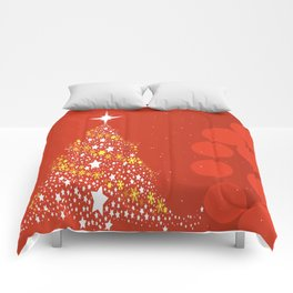 Red Christmas Background Comforters