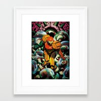 samus Framed Art Prints featuring Samus by CHAMBA
