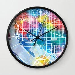 washington dc map watercolor Wall Clock