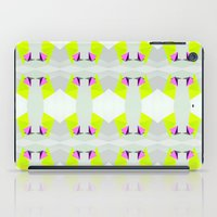 polygon iPad Cases featuring Polygon Neon by ARTDROID