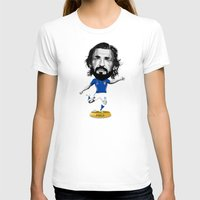 pirlo T-shirts featuring Footy Figures / Pirlo by Rudi Gundersen