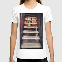 concrete T-shirts featuring Concrete stairway by Emily Lomax
