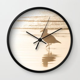 Meet Me at the Beach Wall Clock