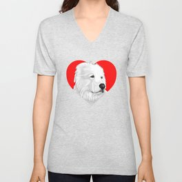 Great Pyrenees Unisex V-Neck