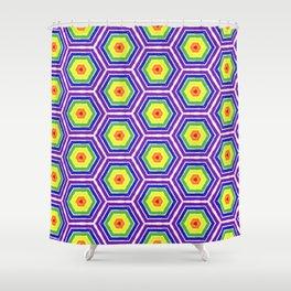 Pride Honeycomb Reverse Rainbow Shower Curtain
