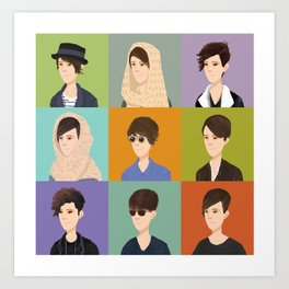 Tegan and Sara: Montage Art Print
