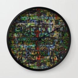 Lettrage 02 Wall Clock