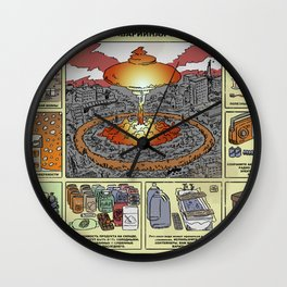 Nuclear Survival Poster Wall Clock