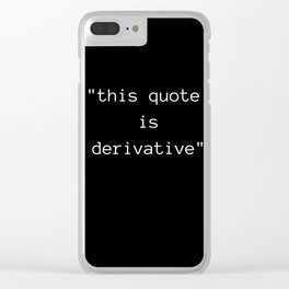 Derivative Clear iPhone Case