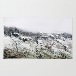 Littledale Edge and snow. Honister Pass, Cumbria, UK. Rug