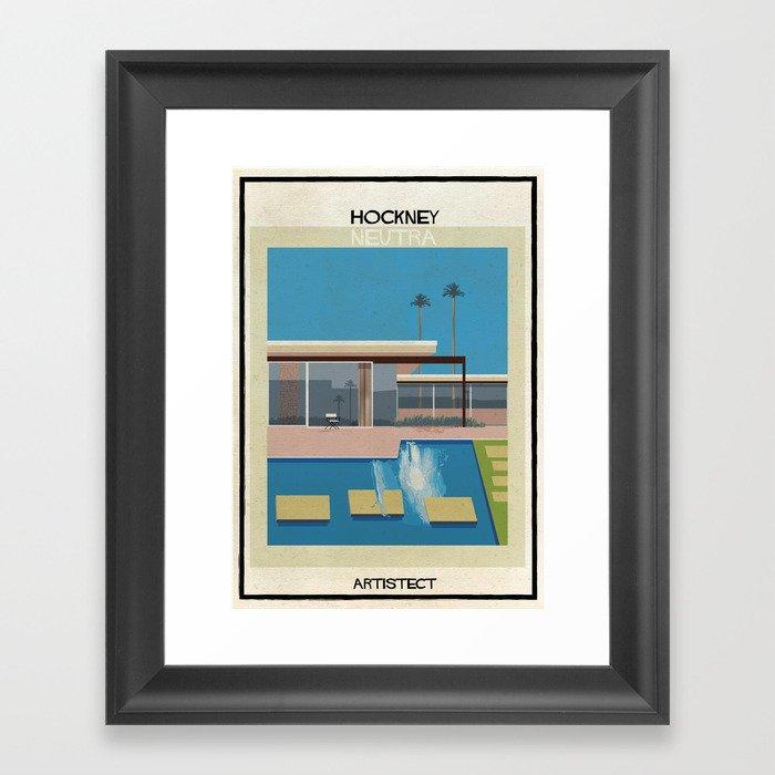 Hockney+neutra Gerahmter Kunstdruck