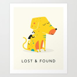 LOST AND FOUND (2) Art Print