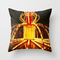 Amusement Ride in New Orleans, circa 1980 Throw Pillow