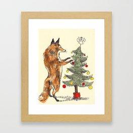 Christmas Fox Framed Art Print