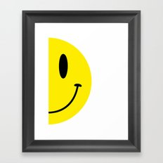 Half Smile (Left) Framed Art Print